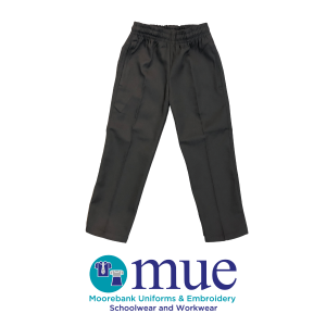 Boys Grey Trousers with Zippered Pocket
