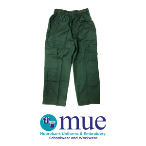 Boys Bottle Green Cargo Trousers