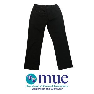 Girls Black Tunnel Slacks