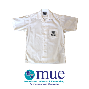 Boys White Short Sleeve Shirt Year 11 & 12