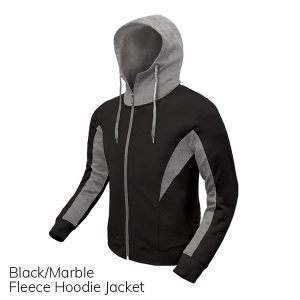 Black & Marble Fleece Hoodie Jacket