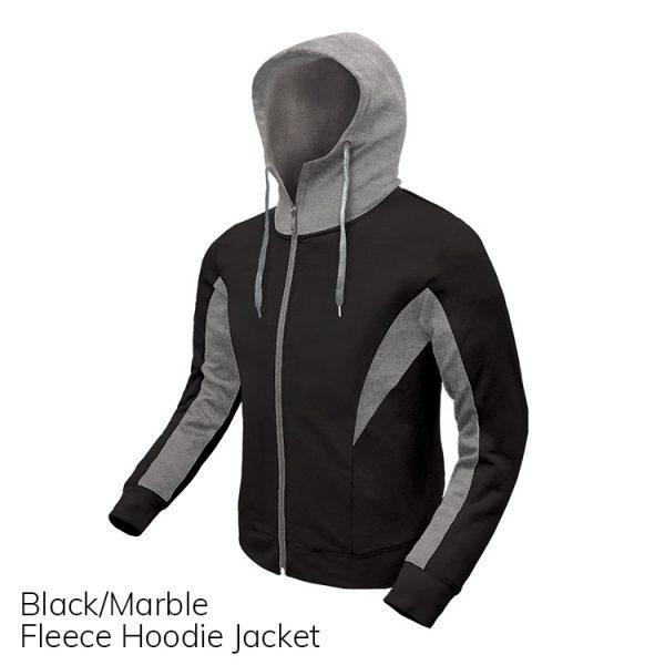 Black & Marble Fleece Hoodie Jacket
