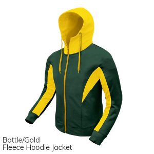 Bottle & Gold Fleece Hoodie Jacket