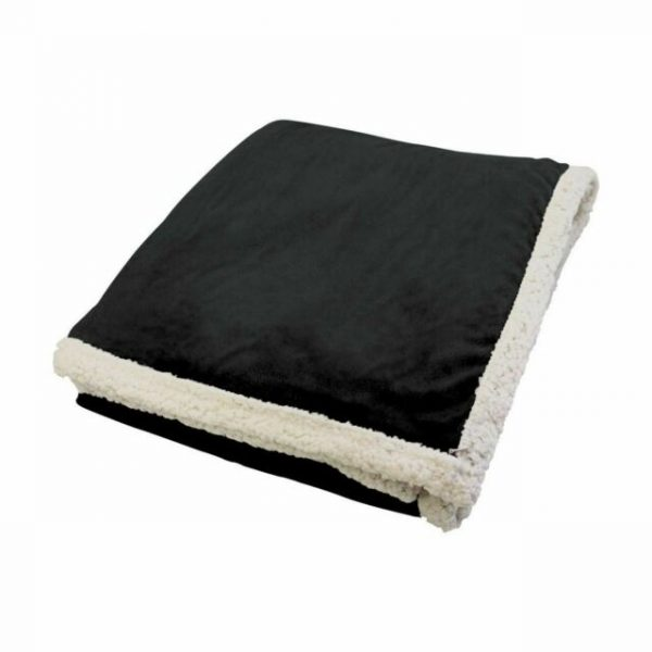 Kanata Faux Lambswool Throw Black