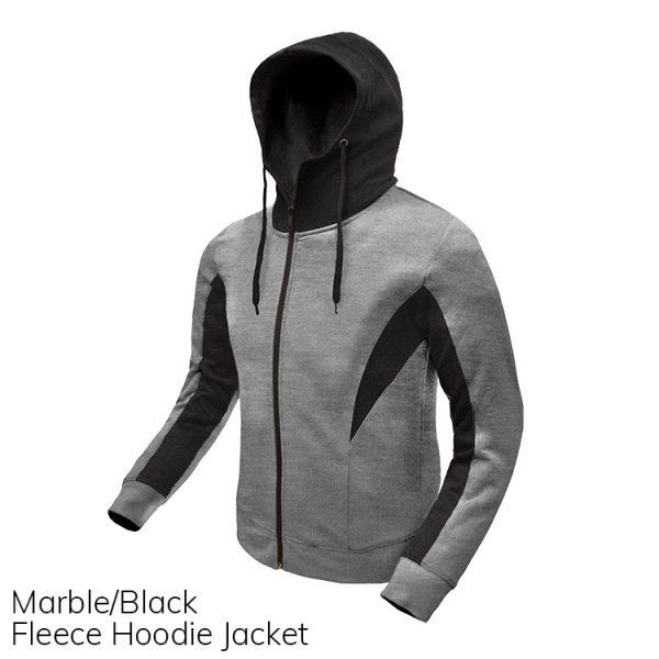 Marble & Black Fleece Hoodie Jacket