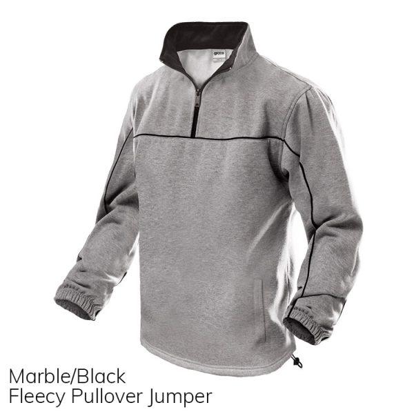 Marble & Black Fleece Pull Over Jumper