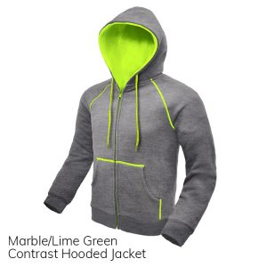 Marble & Lime Contrast Hooded Jacket