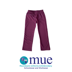 Maroon Tunnel Slacks with Zippered Pocket