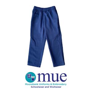 Navy Gaberdine Full Elastic Waist Single Knee Trousers