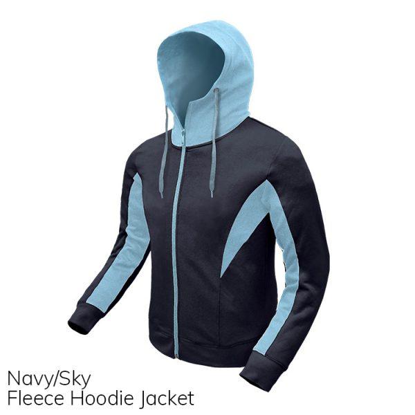 Navy & Sky Fleece Hoodie Jacket