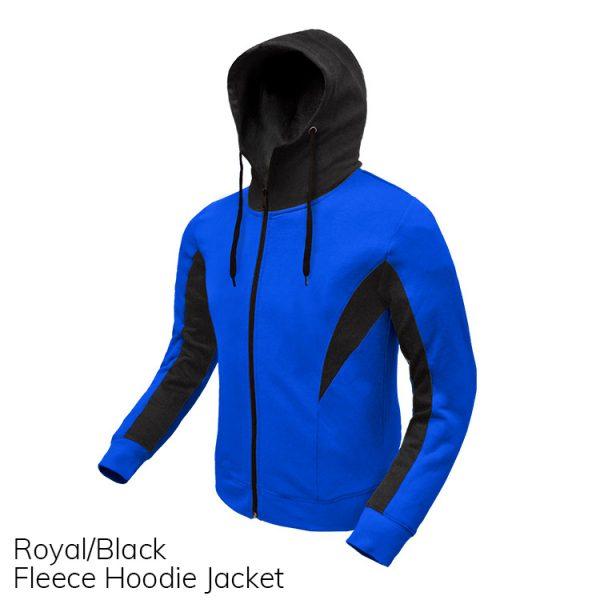 Royal & Black Fleece Hoodie Jacket