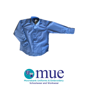 School Blue Boys Long Sleeve Shirt