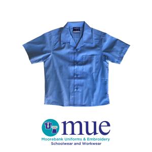 School Blue Boys Short Sleeve Shirt